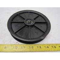 "Fenner Efson 04869-32734 7"" OD 3/4"" Round Belt Idler Pulley Nylon 5/8"" Bore"