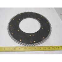 "Twin Disc 06310J 12-1/4"" OD 6-1/4"" ID 72T External Tooth Clutch Drive Plate PTO"