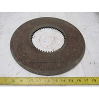 """C3116 RF38 13"""" OD 5-3/4"""" ID Internal Tooth 48T .314"""" Thick Clutch Friction Disc"""