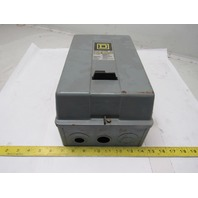 Square D 8536 Size 2 AC Magnetic Motor Starter 10-25HP 120V Coil Type 1