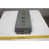 Square D 8536 Motor Starter 480V Coil NEMA Size 3 W/Enclosure Type 1