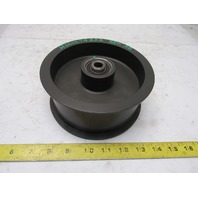 """Dematic H001274AAA Rev. AB 6"""" Hub x 2-1/2"""" Wide Tape Belt Idler Pulley 1/2"""" Bore"""