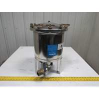 """Harmsco SS Up Flow Water Filtration Single Cartridge Housing 1"""" Ports 50GPM"""