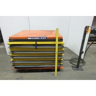 "Airfloat 6000Lb Capacity Pneumatic Scissor Lift Table 48""x42"" Top 12-36"" Travel"