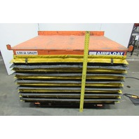 "Airfloat 6000Lb Capacity Pneumatic Scissor Lift Table 60""x47"" Top 11-36"" Travel"