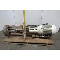 Gusher TCL3x4-13SEL-12-C-B 40Hp Stainless Steel Vertical Centrifugal Pump 600GPM