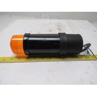 Telemecanique XVB-L8G5 120V Orange Amber Indicator Beacon Strobe Light W/ Base