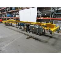 30' Span 5 Ton Single Girder Top Runner Bridge Crane W/Demag Hoist & Remote 480V
