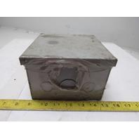 "Hoffman A-HE6X6X4 6"" x 6"" x 4"" HC Cutout Box Electrical Enclosure"