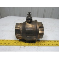 """RB Valves 3"""" Ball Valve MS58 Brass 150 WSP 600WOG For 9/16"""" Actuator No Handle"""
