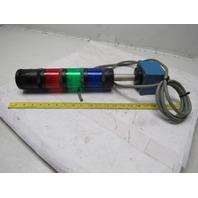 Allen Bradley Bulletin 855T 24VDC 70mm Control Tower Stack Lights Alarm Red Blue