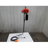 CM Lodestar Model F 1/2 Ton Electric Chain Hoist 16FPM 20' Lift 115V 1 Phase