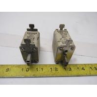 Siemens 3NE8 018 Fuse 63 Amp 660V lot of 2