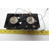 """PAST Multifan 3314 Cooling Fan 3-1/4"""" 24VDC 2.4W Lot of 2"""