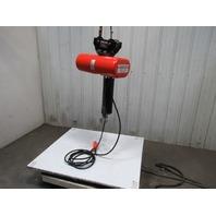 "CM LODESTAR Model L 1 Ton Electric Chain Hoist 16FPM Push Trolley 20' 9"" Lift"