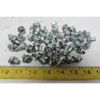 "1/4-20 Shoulder Nut Hex Head Sex Bolt 3/8"" Shoulder Lot Of 50"