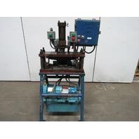 "5Hp Hydraulic  C Frame Press 6"" Stroke 5-1/2"" Throat  28"" x 10"" Table 460V 3 Ph"