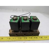"CKD GAB4126 3 Port Solenoid Valve Air /Water/Oil 1/2"" x 1/4"" NPT Ports 100/110V"