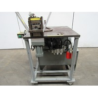 """5 Hp Double Cylinder Custom Hydraulic Punch Press 2 Hole Punch for 1"""" Tube 460V"""