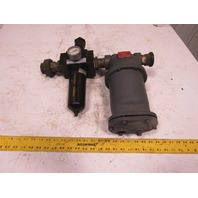 "Wright Austin Co. NO 90 1-1/2"" Filter Regulator W/ Type T Liquid Gas Separator"