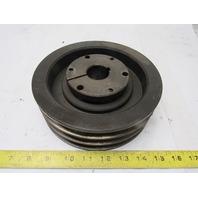 "Maurey 3A7.0-B7.4SK 7-1/4"" OD 3 Belt Pulley 1-3/8"" Bore QD Bushed"