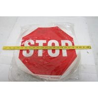 "Brady 97614 17"" Facility Floor Traffic Safety Stop Sign B-819 Vinyl"
