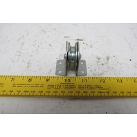 "Block Division Inc. 01558 1-1/2"" OD 3/16"" Cable Flat Mount Pulley Block 525#"