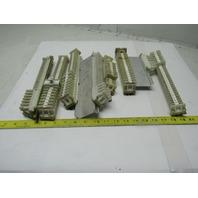 Allen Bradley 1492 Style CD CE & F Electric Terminal Block W/DIN Rail Lot of 154
