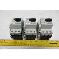 Siemens 3RV1021-1HA10 Circuit Breaker Motor Starter Lot of 3