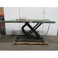 "2000Lb. Hydraulic Scissor Lift Table 96""x48"" Top 230V 3Ph 8"" To 44"" Ht"
