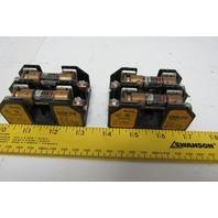Bussman Buss R25030-2COR Fuse Holder 2 Pole 250V 30V Lot of 2