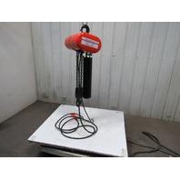 CM Lodestar Model RR 2 Ton 2Hp Electric Chain Hoist 230/460V 3Ph 20' Lift 16FPM