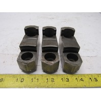 """#328 Tongue & Groove Hardened Chuck Jaw 3-3/4""""x2""""x1-1/4"""" Lot Of 3"""