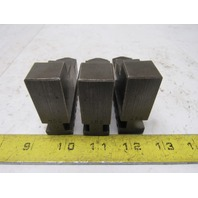 "Self Centering Spiral Lathe Chuck Jaws 3""x2-1/4"" x 3/4"" Lot Of 3"