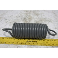 "4"" OD x 12-3/4"" Open Ended Left hand Wound 3/8"" Wire Heavy Extension Spring"