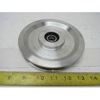 """Dematic H000259AAE 6"""" OD Aluminum Take Up Pulley 21/32"""" ID Bore B-Section Belt"""