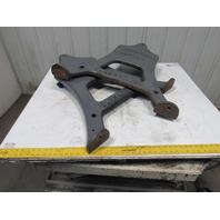 Loshbough Jordan No. 2 Early Industrial Vintage Cast Iron Press Table Legs Lot/2