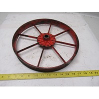 "12-3/4"" OD Vintage Industrial Spoked Wheel Wall Art DIY"