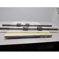 """THK 40038KB 36-1/4"""" Linear Rail W/2 Bearing Blocks From a Sodick FS-A4F Lot of 2"""