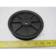 "Efson Dematic # 0486923734 5-15/16""  Round Belt Idler Pulley Nylon 5/8"" Bore"