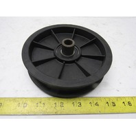 "5-5/8"" OD Flat Belt Pulley 1"" Flanged 1/2"" Bore"
