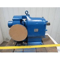 "Waukesha Size 200 4"" Flange Mount 2"" Shaft Rotary Lobe Blower Pump"
