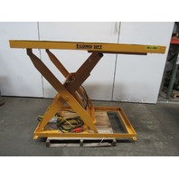 "Econo Lift 3SL42 2000Lb. Hydraulic Scissor Lift Table 66""x48"" Top 8"" To 52"" Ht"