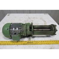 """Brinkmann T400/280 Coolant Pump 460V 1-1/4"""" NPT Discharge"""