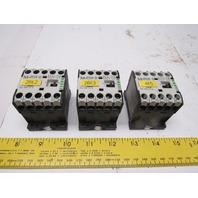 Moeller DILEM-10-G 24VDC 3 Pole Contactor Lot Of 3