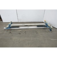 "Gorbel Under Hung Aluminum Monorail Bridge Crane 109"" OAL 86 To 54"" Runner Width"
