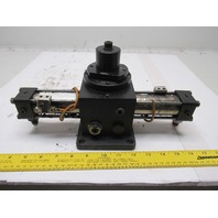 "Pneumatic Oscillator Pneumatic Actuator 45° 1/4 Turn  1"" Bore"