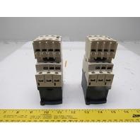 Telemecanique CAD32BD 10A Contactor 24VDC W/Auxiliary Contact LA1DN40 Lot of 2