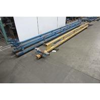 Gorbel 1 Ton Ceiling Mounted Bridge Crane 17' Span x 20' Run W/Push Pull Trolley