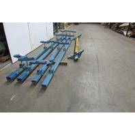 Gorbel 1/2 Ton Ceiling Mounted Bridge Crane 12' Span x 40' Run W/Push Trolley